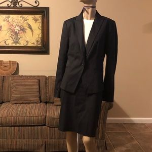 Ann Taylor Black Pinstripe Suit size 8
